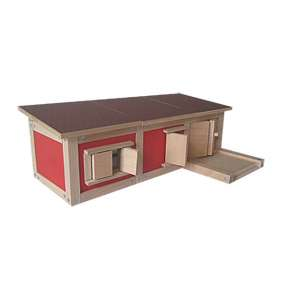 D 05 - Drevený dvojdomček s garážou a rovnou strechou  -  AKCIOVÁ CENA!